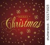 merry christmas gold glittering ... | Shutterstock .eps vector #522171025