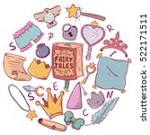 little princess vector set of... | Shutterstock .eps vector #522171511