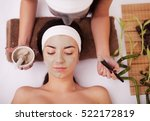 face treatment. woman in beauty ... | Shutterstock . vector #522172819