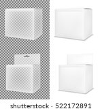 realistic white paper or... | Shutterstock .eps vector #522172891