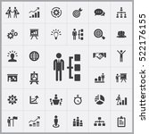 business strategy icons... | Shutterstock .eps vector #522176155
