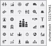 business strategy icons... | Shutterstock .eps vector #522176461