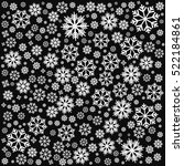 background with snowflakes.... | Shutterstock .eps vector #522184861