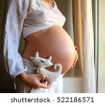 image of the rounded belly of... | Shutterstock . vector #522186571