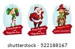 christmas characters set | Shutterstock .eps vector #522188167