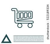 vector shopping cart line icon | Shutterstock .eps vector #522189334