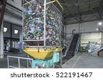 conveyer for plastic recycling...   Shutterstock . vector #522191467