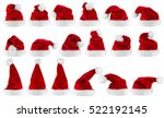 big set collection of red white ... | Shutterstock . vector #522192145