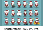 Collection Of Cartoon Santa...