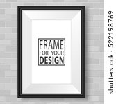 vertical frame on brick wall.... | Shutterstock .eps vector #522198769