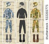 military uniforms with... | Shutterstock .eps vector #522202771