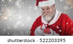 close up of santa claus opening ... | Shutterstock . vector #522203395