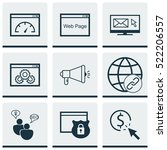 set of 9 seo icons. can be used ...