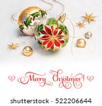 christmas greeting card.... | Shutterstock . vector #522206644