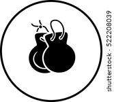 castanets symbol | Shutterstock .eps vector #522208039