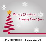 merry christmas and happy new... | Shutterstock .eps vector #522211705