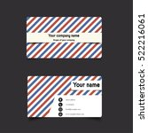 business card template | Shutterstock .eps vector #522216061