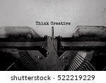 think creative typed words on a ... | Shutterstock . vector #522219229