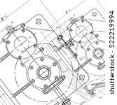 mechanical engineering drawing. ... | Shutterstock .eps vector #522219994