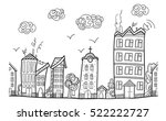 town street  repeated ornament. ... | Shutterstock .eps vector #522222727