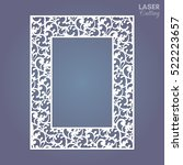 laser cut paper lace frame ... | Shutterstock .eps vector #522223657