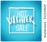 Hot Winter Sale Banner  Vector...