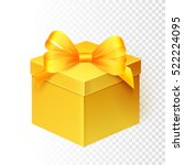 golden gift box over white... | Shutterstock .eps vector #522224095