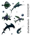 Collection Of Stylized Fishes....