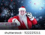 portrait of santa claus... | Shutterstock . vector #522225211