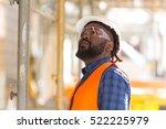 african american engineer... | Shutterstock . vector #522225979