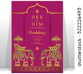indian wedding card. | Shutterstock .eps vector #522226495