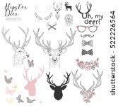 hipster deer elements set for... | Shutterstock .eps vector #522226564