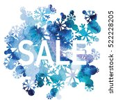 winter sale  snowflakes bouquet ... | Shutterstock .eps vector #522228205