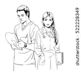 sketch illustration of young... | Shutterstock . vector #522228349
