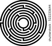 complex circle maze icon.... | Shutterstock .eps vector #522233644