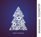 vector modern concept christmas ... | Shutterstock .eps vector #522240739