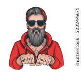 Vector Color Hipster Tattoo...
