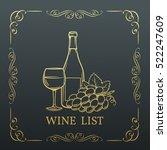 decorative gold banner wine... | Shutterstock .eps vector #522247609