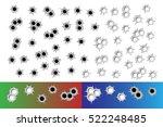 set bullet holes  target... | Shutterstock .eps vector #522248485