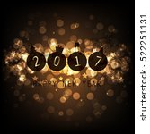 best wishes   gold abstract... | Shutterstock .eps vector #522251131