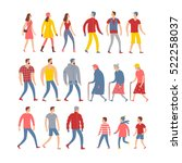 set of cartoon people in... | Shutterstock .eps vector #522258037