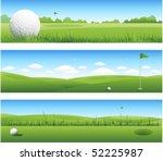 three golf backgrounds | Shutterstock .eps vector #52225987