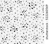 vector monochrome seamless... | Shutterstock .eps vector #522260569