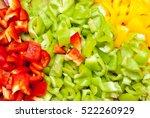 design element. cut bell pepper ... | Shutterstock . vector #522260929