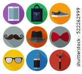 set of simple hipster accessory ...   Shutterstock .eps vector #522262999