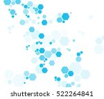 geometric hexagon abstract... | Shutterstock .eps vector #522264841