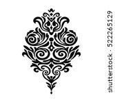 vintage baroque frame scroll...   Shutterstock .eps vector #522265129