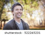 handsome mature happy man... | Shutterstock . vector #522265231
