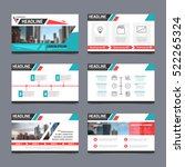 presentation templates set with ... | Shutterstock .eps vector #522265324