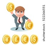 currency rate. dollar  euro ... | Shutterstock .eps vector #522266551